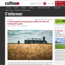 Presse cultivar thermométrie stockage grain