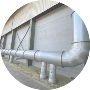 gaine de ventilation hangar stockage