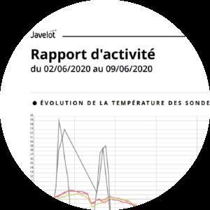 rapport activité traçabilité Javelot courbes de températures