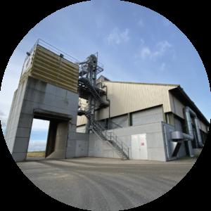 hangar site stockage agriculture grain