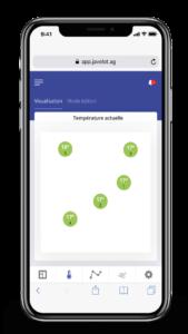 smartphone application Javelot suivi température grain