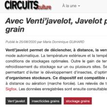 circuits culture Javelot ventilation grain