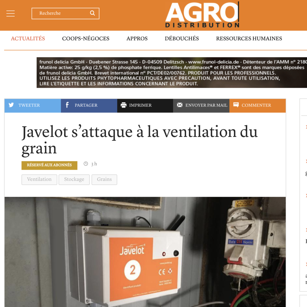 Agro distribution Javelot ventilation